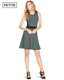 Petite Fit-and-Flare Jacquard Dress