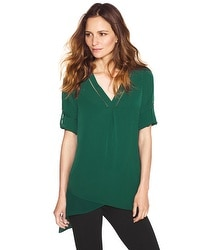 Notch Neck Asymmetrical Tunic