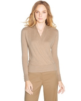 Long Sleeve Surplice Pullover