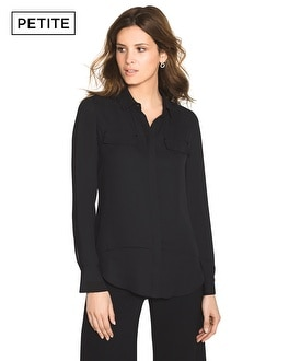 Petite Double-Layer Soft Shirt