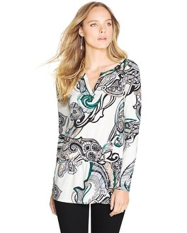 Long Sleeve Printed Tunic
