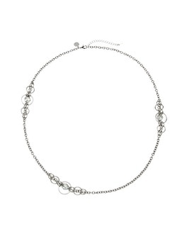 Crystal Circle Station Necklace