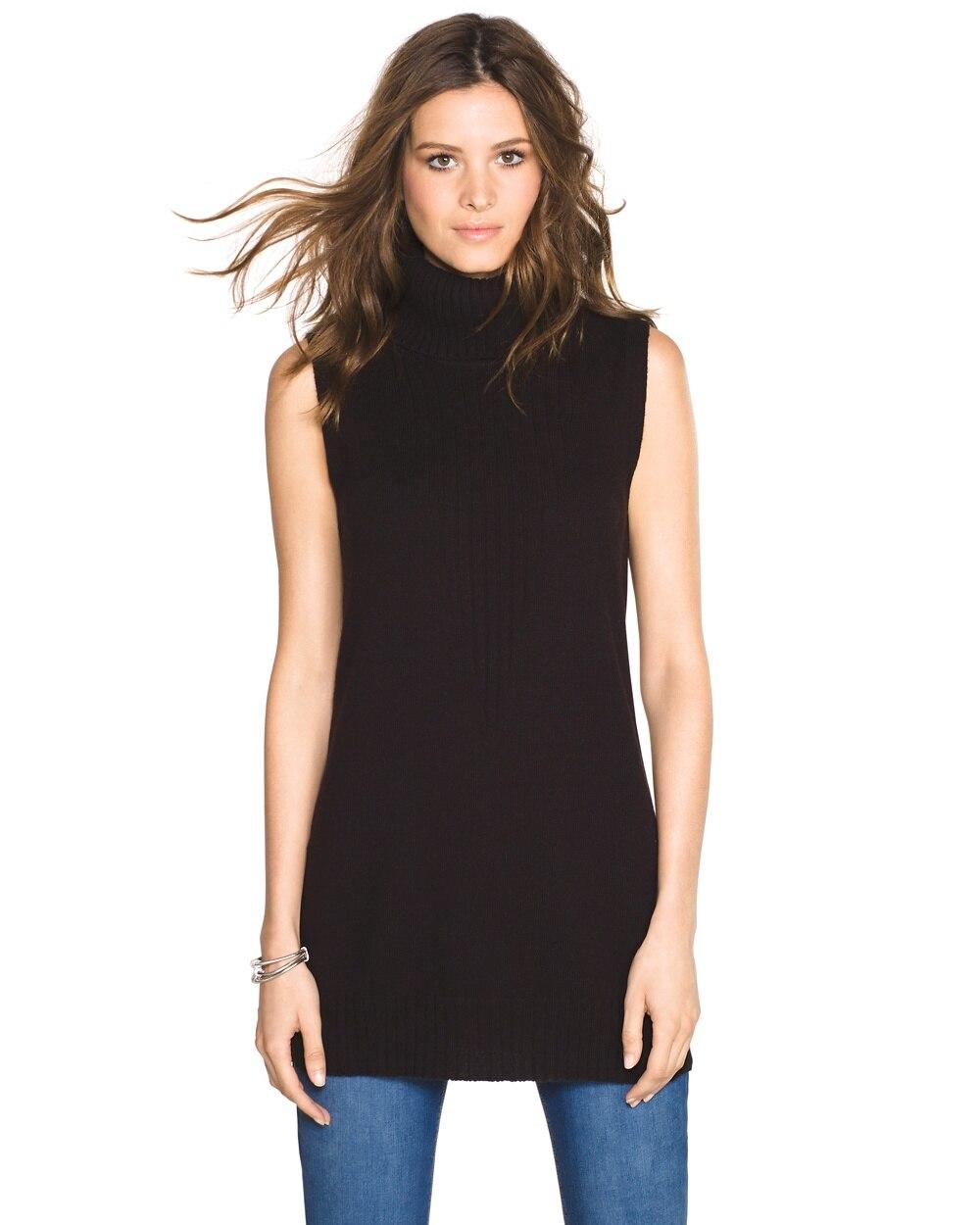 0412839ae1081b Sleeveless Turtleneck Sweater - White House Black Market