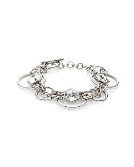 Crystal Circle Toggle Bracelet