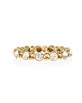Golden Crystal Rivoli Stretch Bracelet