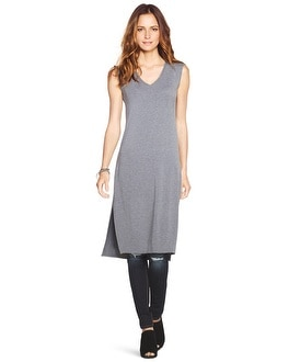 Gray Sleeveless Tunic Top