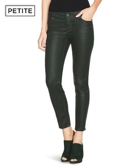 Petite Saint Honore Coated Skimmer Jeans