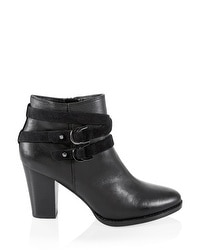 Leather Moto Ankle Boots