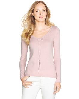 Long Sleeve V-Neck Pullover