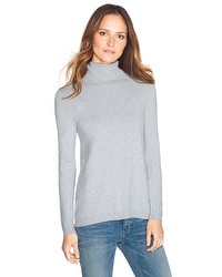 Woven Back Turtleneck