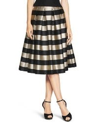 Striped Taffeta Midi Skirt
