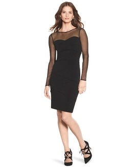 Long Sleeve Instantly Slimming Dress