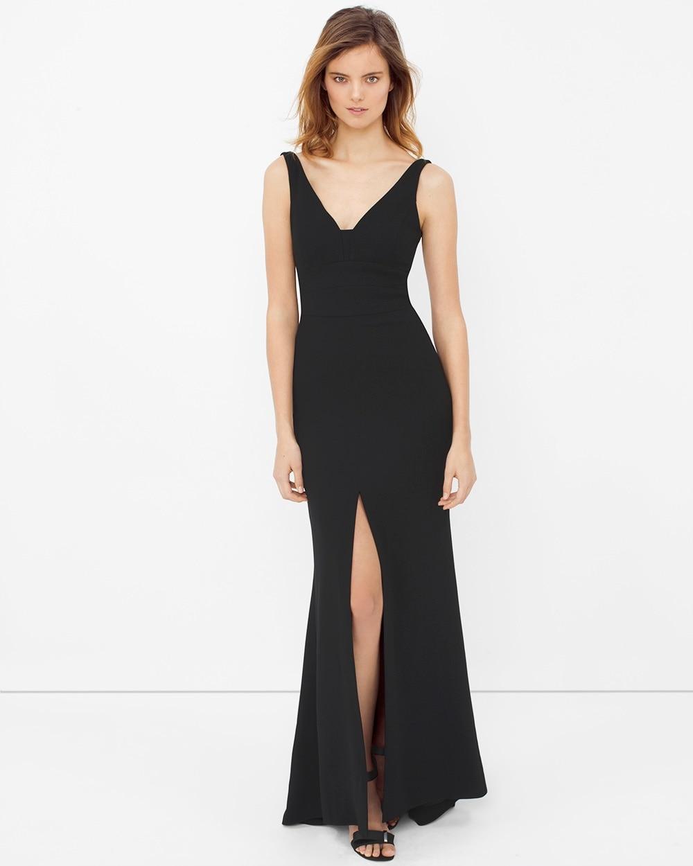 Front-Slit Black Gown - White House Black Market