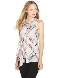 Sleeveless Printed Shell