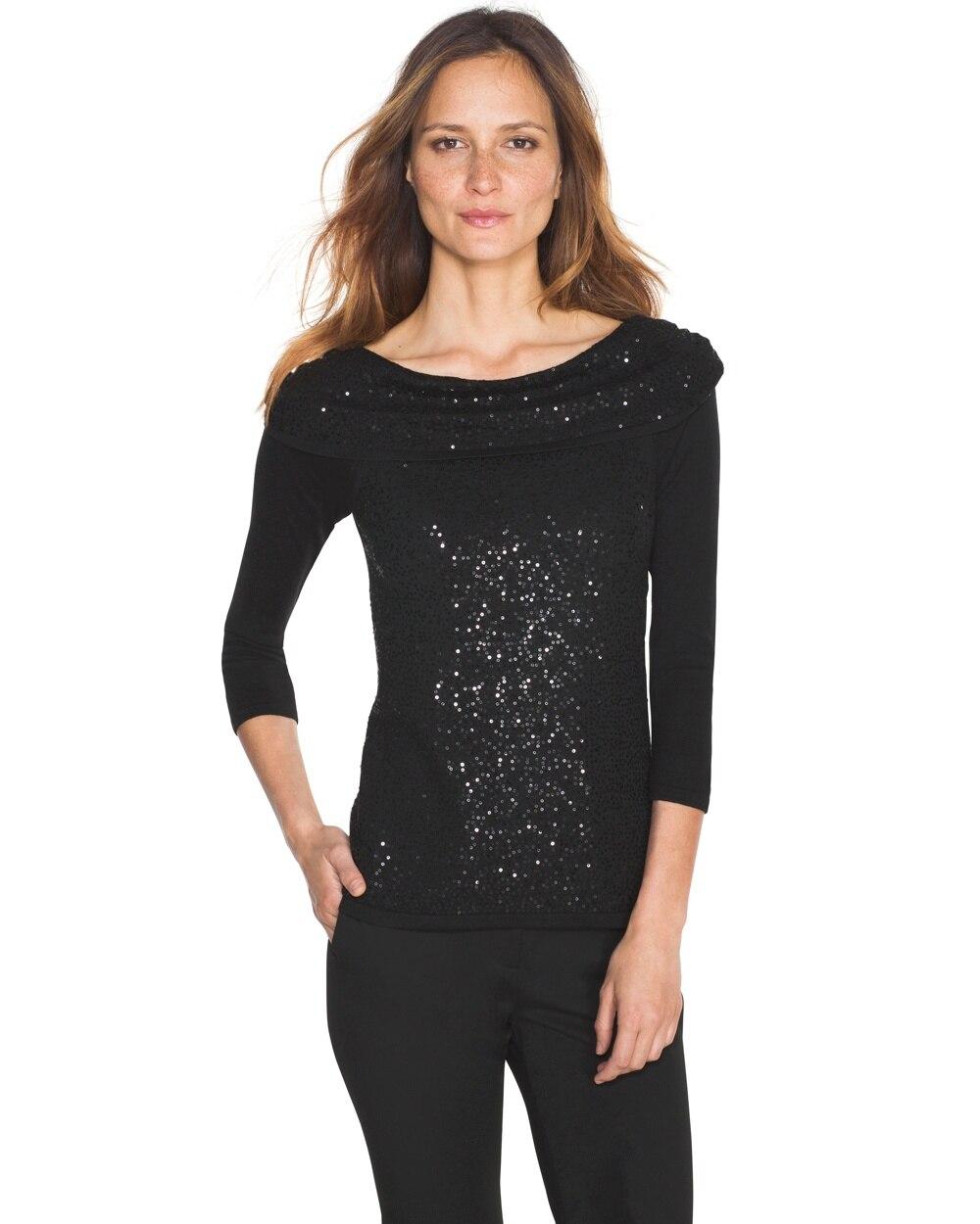 2749b3e6c12 Sequin Pullover - White House Black Market