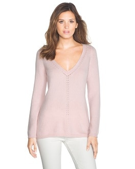 Cashmere Blend Pointelle Sweater