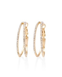 Split Pave Hoop Earrings