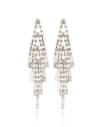 Rhinestone Chain Chandelier Earrings