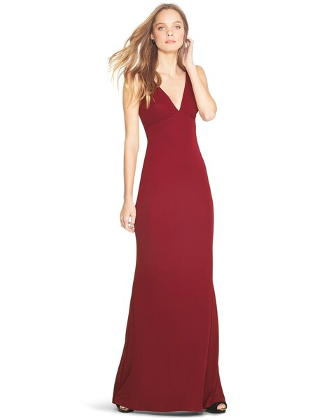 f7b7b6ce27 Return to thumbnail image selection Deep V-Neck Gown video preview image