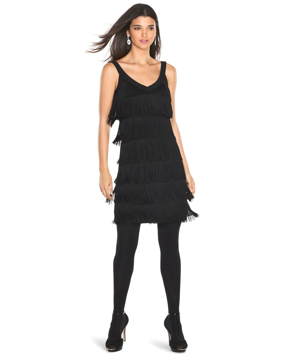 Tiered Fringe Dress White House Black Market