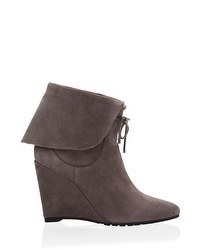Suede Ankle Boot Wedges