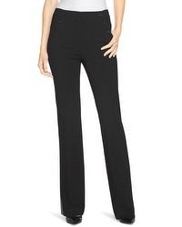Side-Button Flare Pants