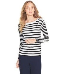 Stripe Boatneck Top