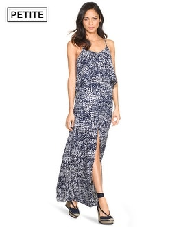 Petite Printed Flounce Maxi Dress