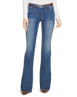 Mid Rise Wide Flare Jeans