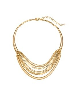 Layered Chain Collar Necklace
