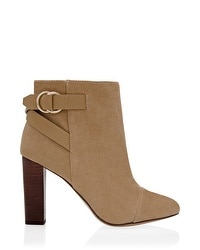 Suede Buckled Ankle Boots