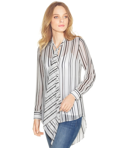 efa427f6950ce8 Return to thumbnail image selection Mixed Stripe Blouse video preview  image, click to start video