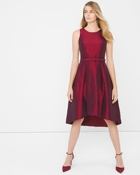 Taffeta High-Low Dress