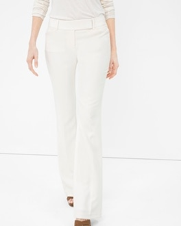 Structured Twill Flare Pants