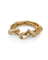Layered Snake Chain Toggle Bracelet