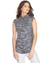 Sleeveless Marled Sweater