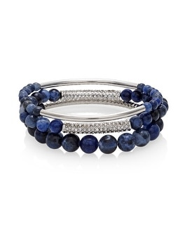 Sodalite Beaded Stretch Bracelets