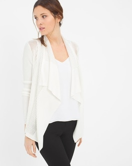 Draped Shadow Stripe Cardigan