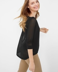 Boatneck High-Low Sweater