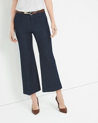 Saint Honore Wide-Leg Crop Trouser Jean