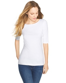 Soft Touch Bateau Neck Tee
