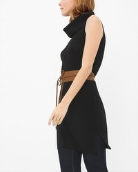 Sleeveless Cowl Tunic Sweater