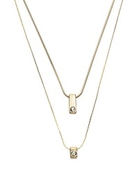 Jet and Crystal Long Reversible Necklace