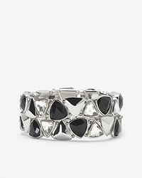 Jet Crystal Stretch Bracelet Set