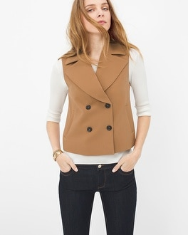Double-Breasted Crop Vest