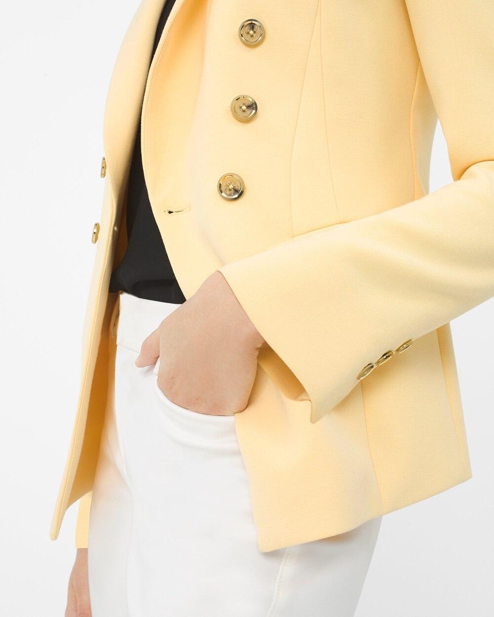 White house black market yellow blazer