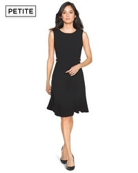 Petite Sleeveless Flippy A Line Dress