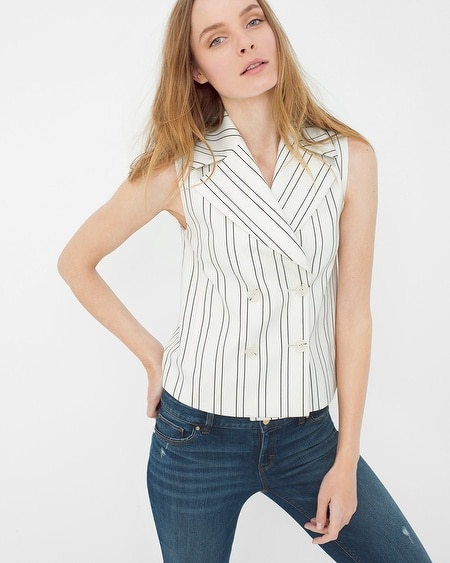 Double-Breasted Stripe Vest