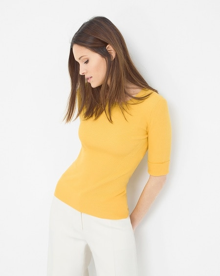 Crew Neck Ribbed Sweater