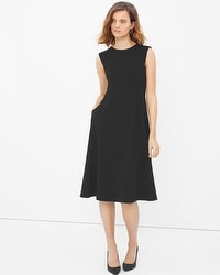 Bateau Fit-and-Flare Dress